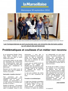 LA MARSEILLAISE 30 SEPTEMBRE 2014