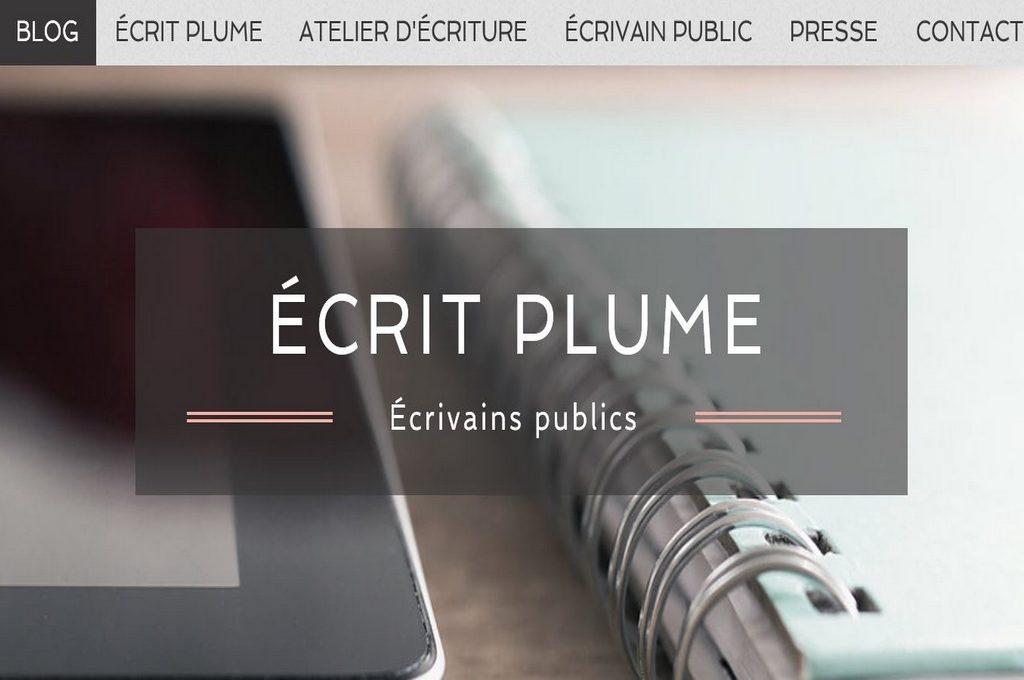 2017, un nouveau site web pour Écrit Plume