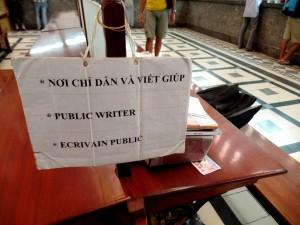 ecrivain public saigon
