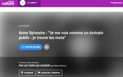Anne Sylvestre «Je me vois comme un écrivain public…»